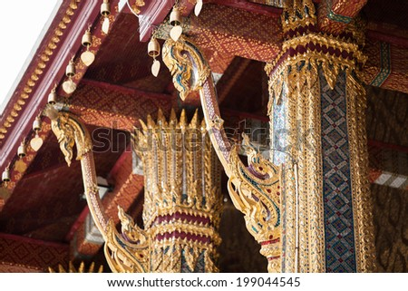 elegance architecture of Emerald buddha temple