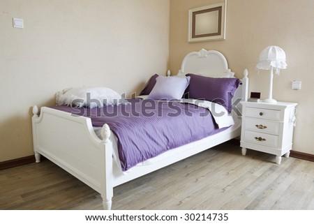 elegance bedroom interior - stock photo