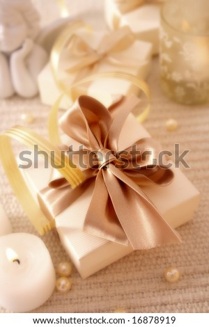 elegance gift box. best for theme: christmas - stock photo