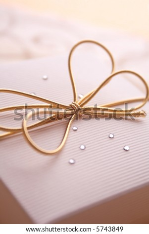 elegance giftbox. best for theme: christmas; birthday; celebration; anniversary - stock photo