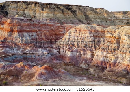 Elegance red- Geology China Sinkiang's desert area  Beautiful geology