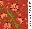 Elegance Seamless color pattern on background,  illustration - stock photo