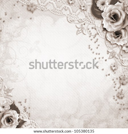 Elegance silver frame for  photo - stock photo