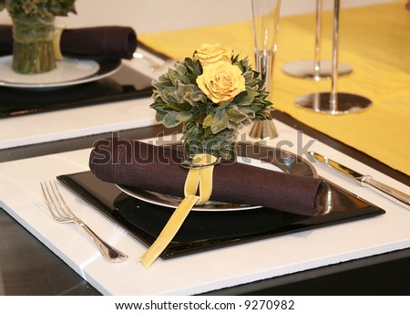 Elegance table setting - stock photo