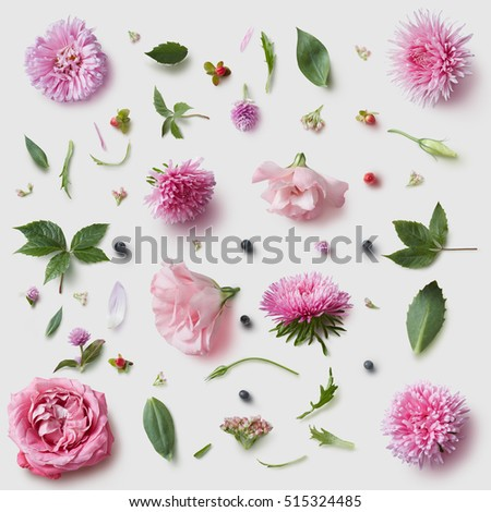 Elegance wallpaper pattern with of pink flowers