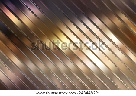 Elegant abstract diagonal golden background with lines - stock photo