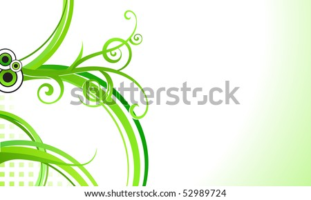 Elegant abstract floral business background. For vector version, see my portfolio