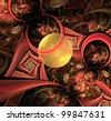 elegant abstract fractal background - stock photo