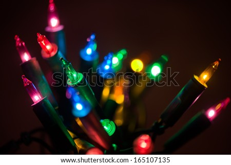 Elegant abstract garland background - stock photo