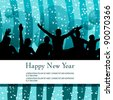 Elegant, abstract New Year's party illustration - stock photo