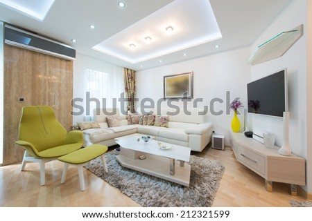 Elegant and comfortable apartment interior - stock photo