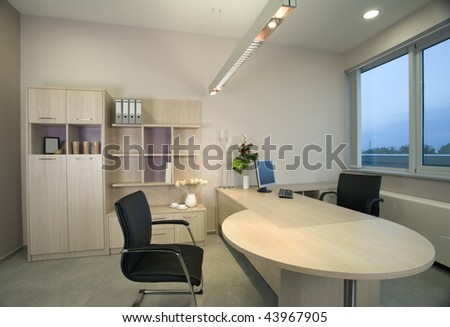 Elegant and luxury home, office and hotel interior design. - stock photo
