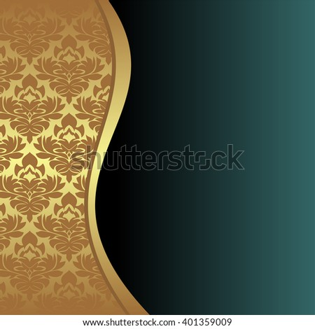 Elegant Background with ornamental Border and place for your text. Raster version. - stock photo