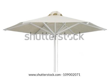 Elegant Beach Umbrella Isolated on white background - stock photo