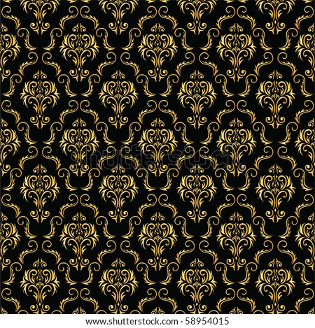 elegant black and gold background from a floral ornament
