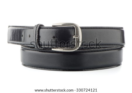 Elegant black belt isolated on white background.