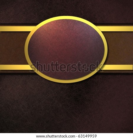 Elegant black, red, and gold background with copy space for text - stock photo