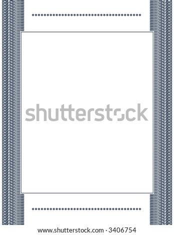 Elegant Blue Document Frame - stock photo