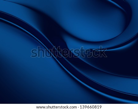 Elegant blue metallic background with curves and space for text - stock photo