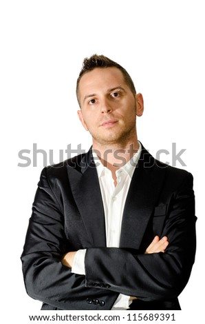 elegant boy - stock photo