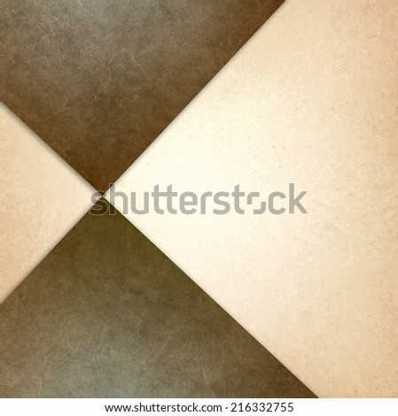 elegant brown white background texture paper with abstract angles triangles and diagonal shapes layered in random abstract pattern - stock photo