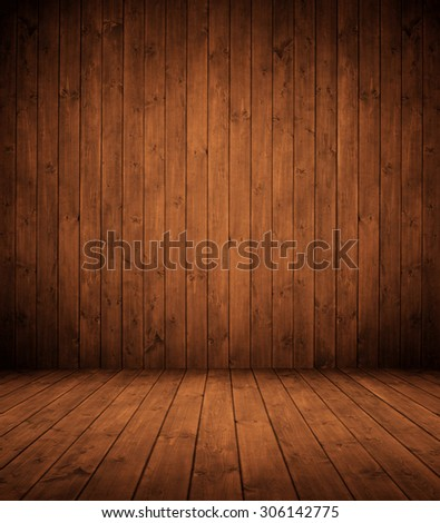 elegant brown wooden interior room. - stock photo