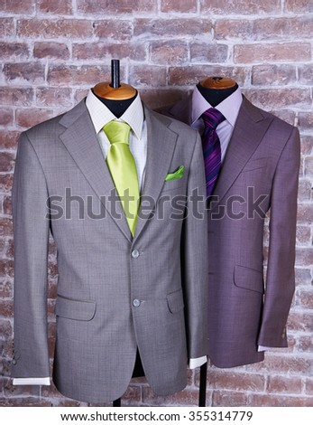 Elegant business suit with a shirt and a tie - stock photo