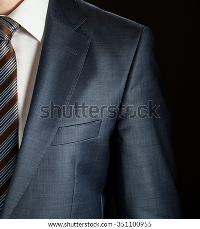 Elegant businessman wearing formal suit and tie