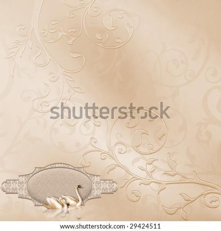 Elegant Card with Wedding Design - stock photo