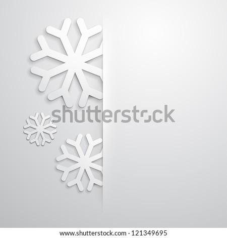 Elegant Christmas background - stock photo
