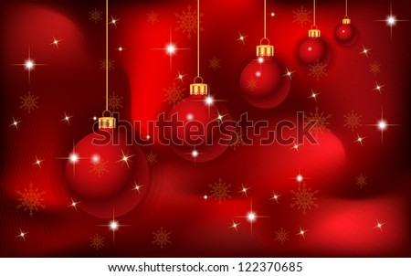 elegant Christmas background - stock photo