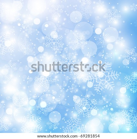 Elegant christmas background with beautiful snowflakes - stock photo