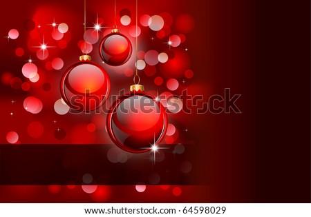 Elegant Christmas Background with Golden details - stock photo