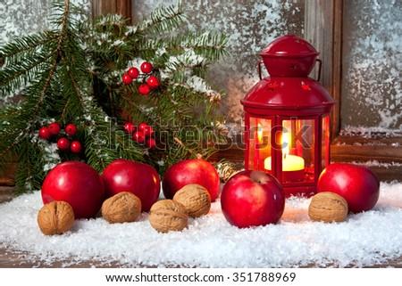 Elegant classic christmas background card for holidays - stock photo