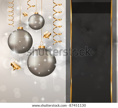 Elegant Classic Christmas Greetings background for flyers, invitations, cards or posters. - stock photo