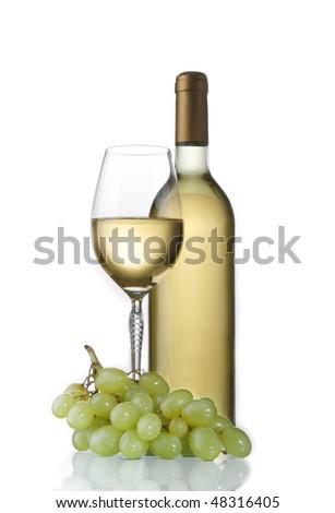 elegant classic white wine - stock photo