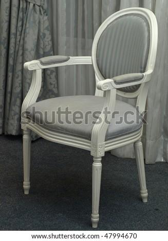 Elegant classical chair - stock photo
