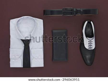 Elegant clothes for men - stock photo