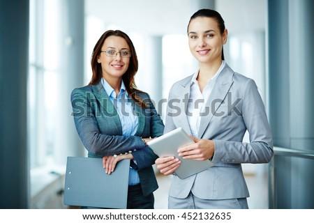 Elegant colleagues - stock photo