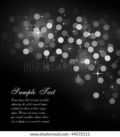 Elegant Colorful Glitter Abstrat Lights for Flyers Background - stock photo