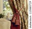 Elegant curtain and window - stock photo