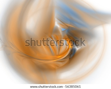 Elegant cyan and yellow fractal background - stock photo