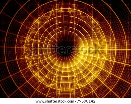 Elegant detailed grid lines and dynamic abstract forms rendered as background on the subject of science, technology, geometry and mathematics