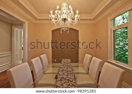 Elegant dining room - stock photo