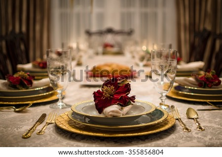 Elegant Dinner Setting   Fancy Dining Room Table Set