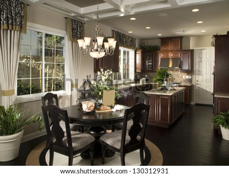 Elegant Dinning room, Kitchen Architecture Stock Images,Photos of Living room, Bathroom,Kitchen,Bed room, - stock photo