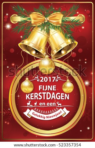 Elegant dutch corporate greeting card winter stock illustration elegant dutch corporate greeting card for winter holiday we wish you merry christmas and happy m4hsunfo