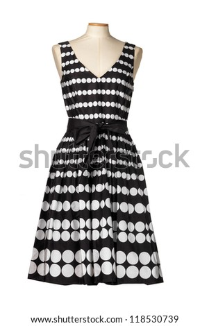 Elegant female dress mannequin - stock photo