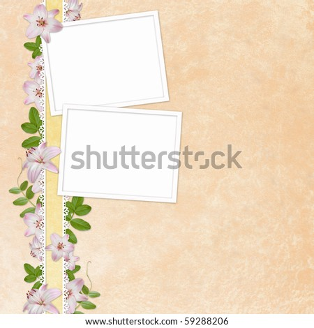 Elegant Floral greeting card