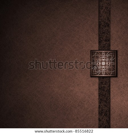 Elegant formal deep red background parchment with fancy seal and black ribbon with grunge texture, has copy space, dark shadows, soft lighting - stock photo